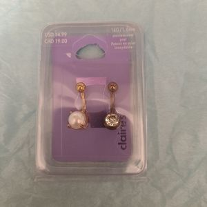 *Extra 50%OFF NWT 2 Navel Piercings